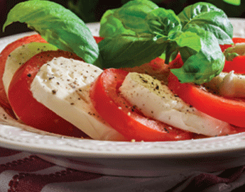 A plate of delicious looking caprese.