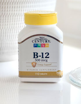 Picture of a 21st Century B-12 Bottle.